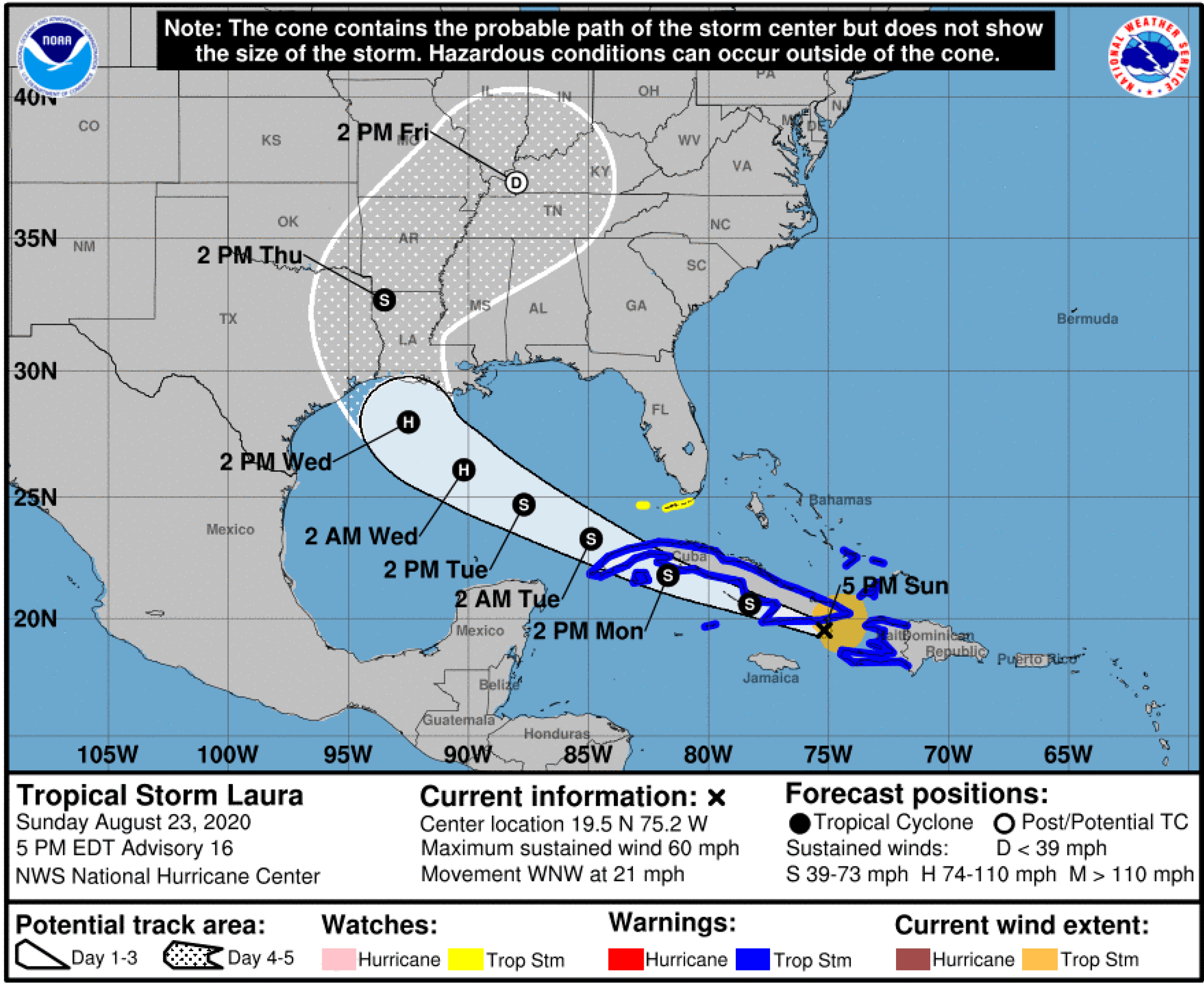 TS Laura Track Map 082320