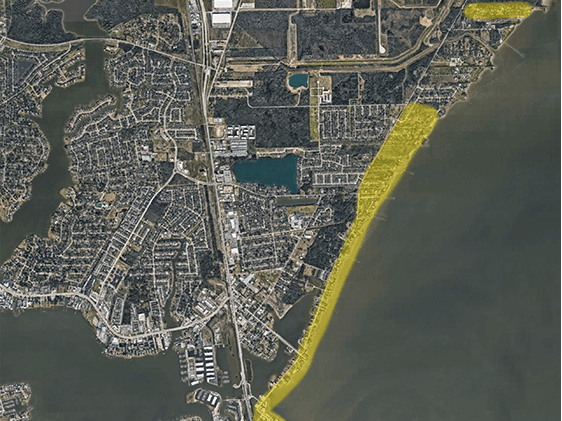 Seabrook Map of Voluntary Evacuation Laura