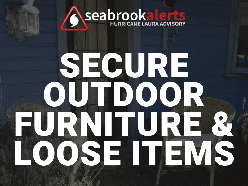 Secure Outdoor Items