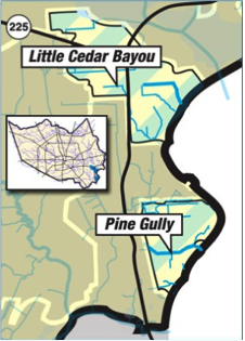 Galveston Bay benefits map