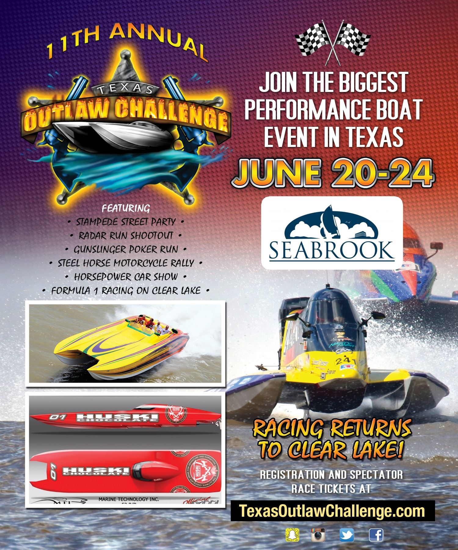 Texas Outlaw Challenge Flyer