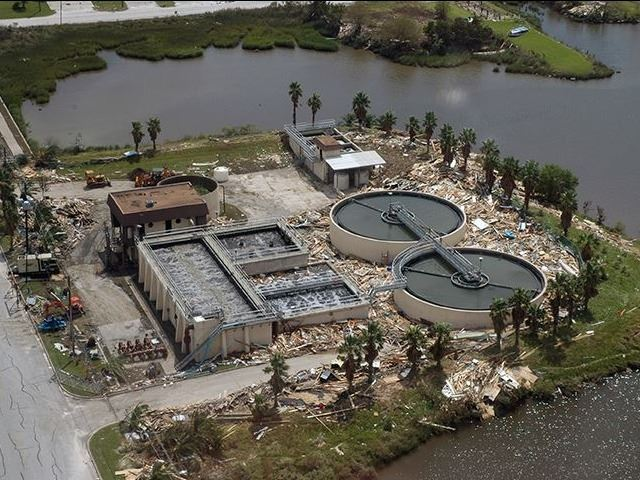 Wastewater Treatment Plant after Hurricane Ike