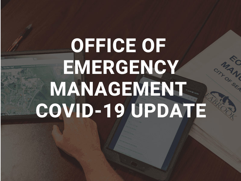 Office of Emergency Management Update - please see news story for details