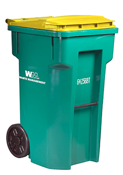 Green recycle bin