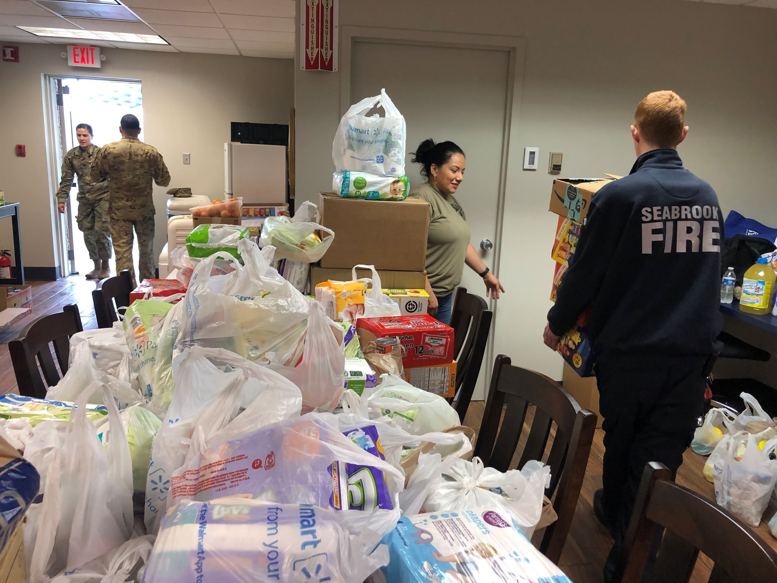 SVFD Delivers Food to USCG